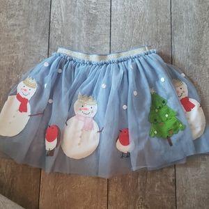 Mini boden girls Christmas ruffle skirt